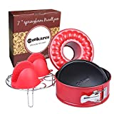 Nonstick 2-in-1 springform 7-inch cheesecake quick-release pan...