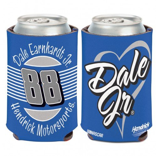 NASCAR 12 ounce Can Cooler with Women's Heart Graphics (Dale Earnhardt Jr)