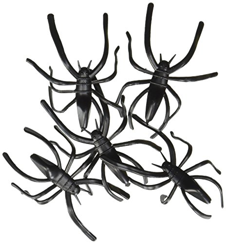Fun Express Plastic Halloween Spiders Party Favor - 144 Pieces -