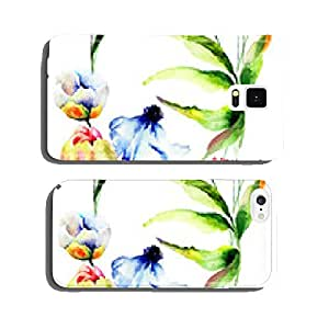 Seamless wallpaper with wild flowers cell phone cover case iPhone5