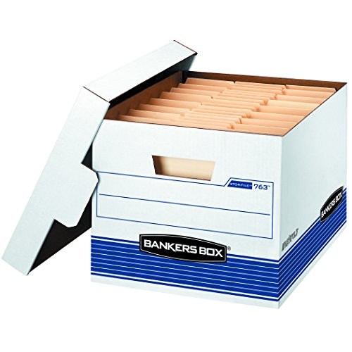 Duty Lid - Bankers Box STOR/File Medium-Duty Storage Boxes, FastFold, Lift-Off Lid, Letter/Legal, Value Pack of 30 (0076316)