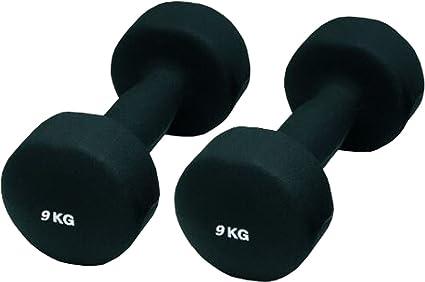 Mancuernas de neopreno cubierta excelente agarre ejercicios con pesas de gimnasia Durable Talla:2 kg