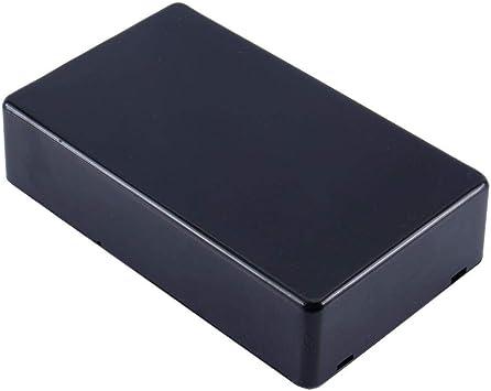Akozon Caja de conexiones de alimentación de 1 pieza 100x60x25mm Cubierta plástica impermeable negra Caja de instrumentos para gabinete de proyectos eléctricos (3.94 * 2.36 * 0.98 pulgadas): Amazon.es: Bricolaje y herramientas