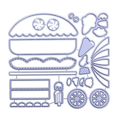 DIPOLA Objetos Animados Bonita y Preciosa Diseño de Troqueles de Corte de Metal para Boda Tarjeta de Papel Scrapbooking Making: Amazon.es: Hogar