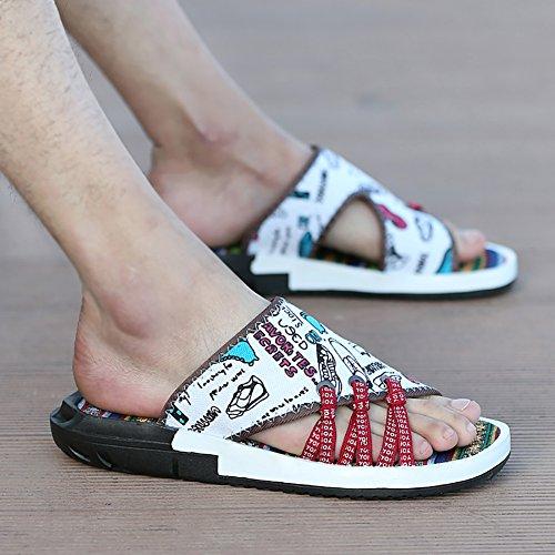 B Colore Toe dimensioni A Sandalo stile Uomo tessuto Sandalo Size nero 39 in etnico 43 spiaggia progettato da Scarpe morbido Open antiscivolo 44 AHUvqAwF