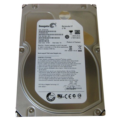 Seagate ST32000641AS Xt 2TB 7200RPM 64MB Sata 6GB/s Hdd HDD-ST32000641AS Barracuda 7200. Hard Drive