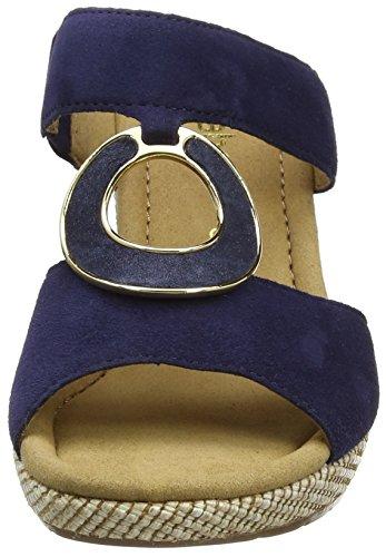 Gabor Shoes 62.825, Zuecos de Cuñas Mujer Azul (Blue Jute 16)