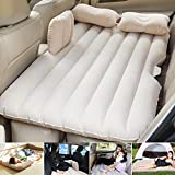 Car Travel Inflatable Mattress AUTOPDR Camping Auto Air Bed Inflation Back Seat Extended Couch for SUVs and Sedans and Trucks Beige (with baffle)