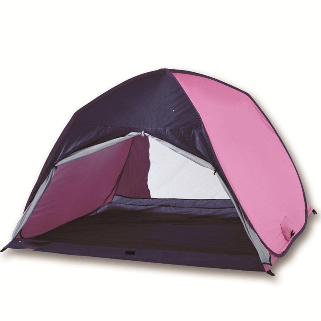 ビーチ自動テント、2-3人屋外キャンプサンシェードテントシェルター、2フロア屋外機器、78 * 62.9 * 51インチ  D B07CVSBLH5