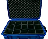 Dark Blue Seahorse SE920 case with padded dividers and TSA Lock.