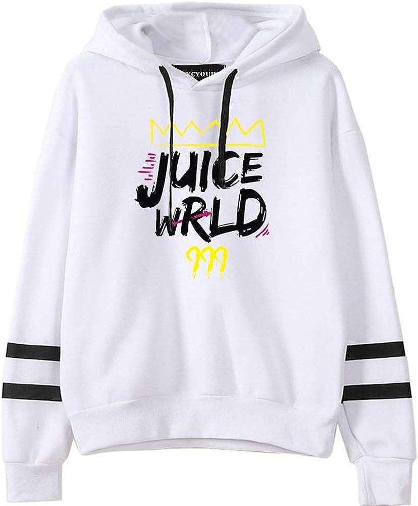 Cobakuey Adults Hip Hop Juice Wrld Printed Hoodies Sweatshirts Pullover