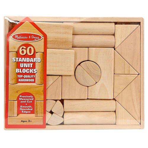 Melissa & Doug 60-piece Standard Unit Building Blocks with