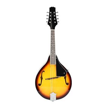 Guitarra clásica de madera con 8 cuerdas y bolsa de almacenamiento ...