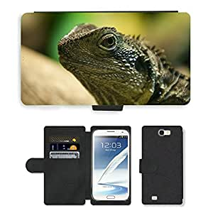 Super Stella Cell Phone Card Slot PU Leather Wallet Case // M00145040 Animals Reptile Nature Australia // Samsung Galaxy Note 2 II N7100