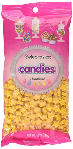 Sweetworks Celebrations Shimmer Gold Stars