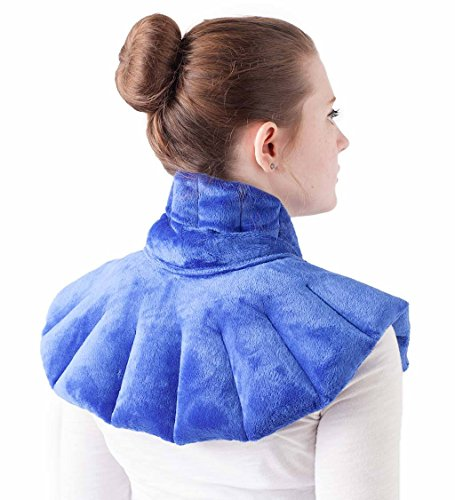 Wind & Weather, Soothing Herbal Aromatherapy Neck, Shoulder and Back Wrap, Heating Pad and Cold Therapy, Designed for Muscle Pain and Tension Relief, Hot or Cold Therapy, Made in USA, 13