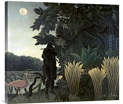 Global Gallery Budget Henri Rousseau The Snake Charmer Gallery Wrap Giclee on Canvas Wall Art Print