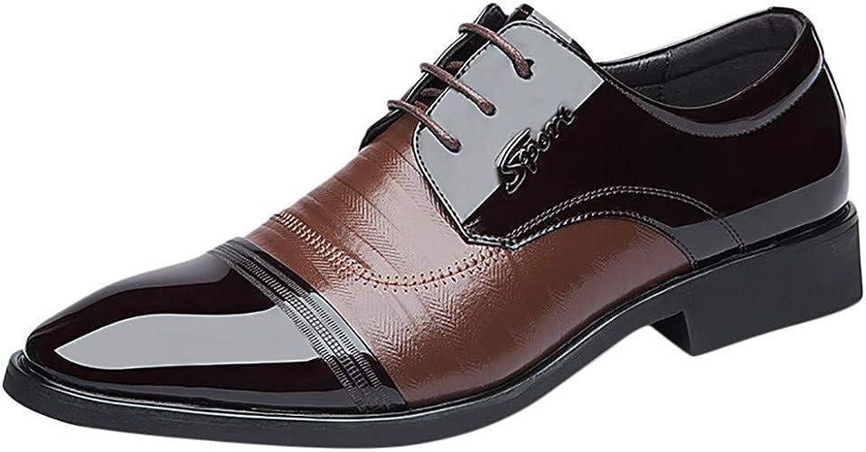 Homme Bureau Noir Cuir Chaussures Bateau Pont Tissé Lacets NOUVEAU Royaume-Uni Taille 10