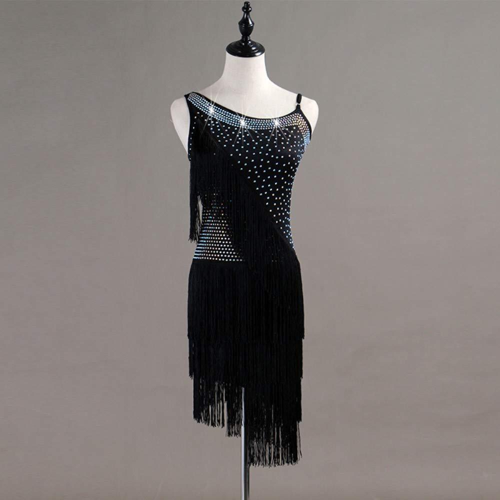 大人の上質  ラテンダンスドレス女性のパフォーマンススパンデックスタッセル結晶ラインストーンノースリーブナチュラルドレス B07PCPZLMP B07PCPZLMP Black Black Medium Medium, 三条工業:79903cf2 --- a0267596.xsph.ru