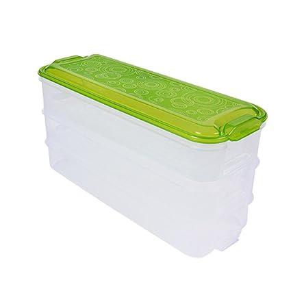 Caja de almacenamiento almacenaje nevera cajas bandeja de hortalizas multi-couches de frutas de mar