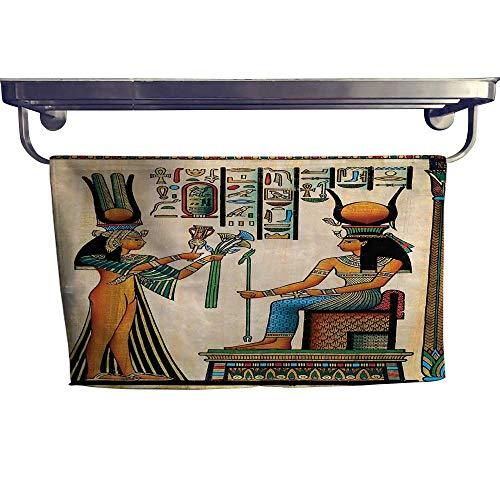Empire 12 Inch Towel Bar - homecoco Egyptian Decor Quick-Dry Towels Old Egyptian Papyrus Depicting Queen Nefertari with Historical Empire ArtworkMulti Towel W 12