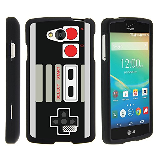 Cheap LG Tribute , 2 Piece Hard Snap On Case + Screen Protector Film + Stylus Pen Black LG Transpyre , Optimus F60 by MINITURTLE – Game Controller