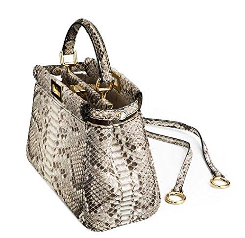 Talentote 100% Imported Genuine Rare Python Snake Leather Lady's Mini Tote Bag Handbags Satchel Shoulder Bag High-end Ttc-ysl-pkb-s