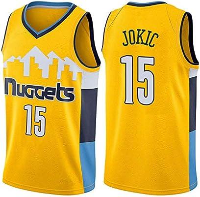 OLIS NBA Denver Nuggets 15# Jokic Camiseta de Baloncesto para ...
