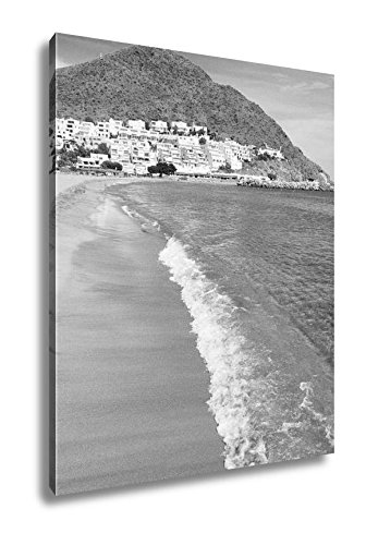 Ashley Canvas Almeria Cabo Gata San Jose Beach Village Spain, Wall Art Home Decor, Ready to Hang, Black/White, 20x16, AG5651968 by Ashley Canvas