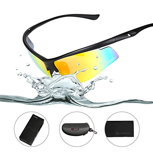 HODGSON Polarized Sports Sunglasses for Men or Women, Extremely Light UV400 Protection Sports Glasses, Cycling Running Glasses, TR90 Unbreakable