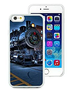 Personalized Design iPhone 6 Case,Christmas City Locomotive Railway White iPhone 6 4.7 Inch TPU Case 1
