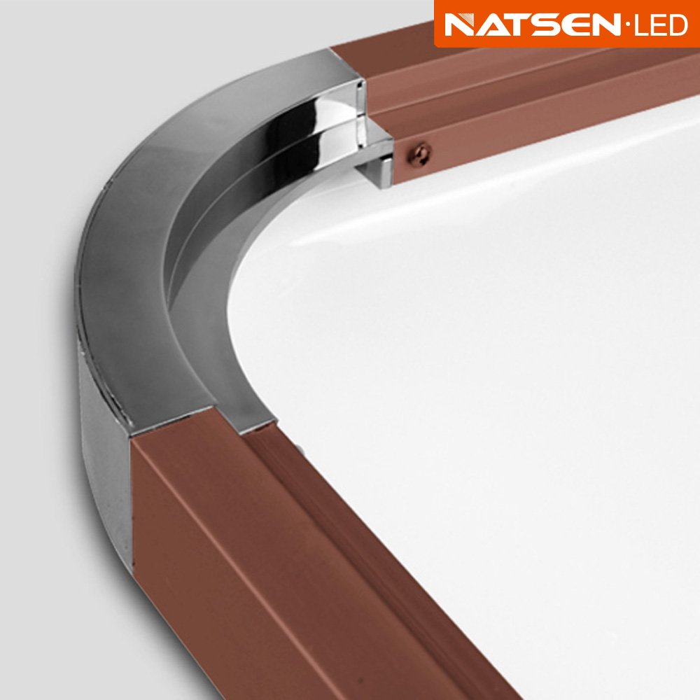 Natsen® LED Ceiling Light Wall Lamp 90W Modern Braun ceiling lamp ...