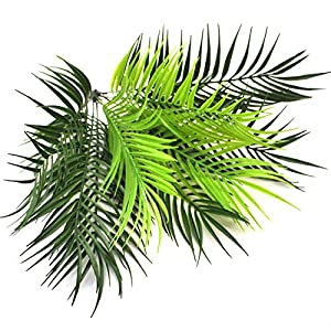 Artificial Plants Greenery Boston Fern Plants Shrubs Tropical Palm Leaf for Indoor Outdoor Wedding Deco 6