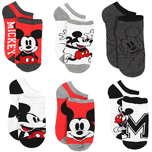 Disney Mickey Mouse 6 pack Socks (6-8 Boys