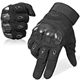 WTACTFUL Touch Screen Rubber Hard Knuckle Full Finger Gloves for Motorcycle Cycling Motorbike ATV Riding Driving Racing Climbing Camping Hiking Hunting Work Outdoor Sports Gloves Size Small Black