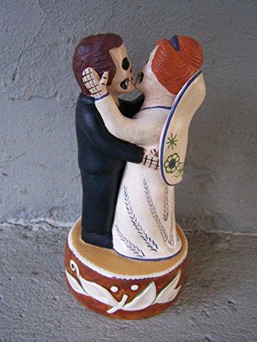 Dia de los Muertos Day of the Dead Skeleton Wedding Couple on Cake - Peru
