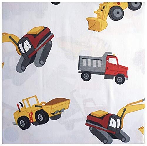 Dump Truck Toddler Bed - 100% cotton - construction vehicles FULL Sheet Set (trucks, front loaders, dump trucks)