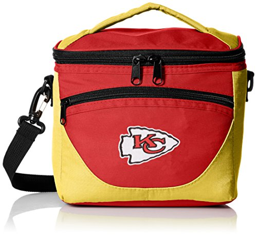 Logo Brands NFL Kansas City Chiefs Halftime Lunch Cooler, One Size, (Kansas City Chiefs Lunch Box)