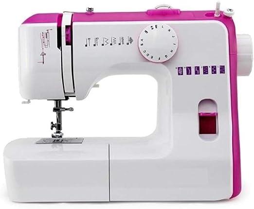 TONGSH Máquina de Coser, Máquina de Coser de Peso Ligero con 12 Puntos de sutura, la función Multi máquina de Coser ...