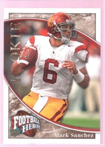 2009 Ud Football - MARK SANCHEZ 2009 UD FOOTBALL HEROES ROOKIE CARD MINT RC USC EAGLES $8