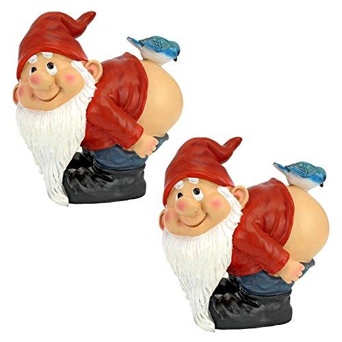 Design Toscano Medium Loonie Moonie Gnomes: Set of 2 For Sale