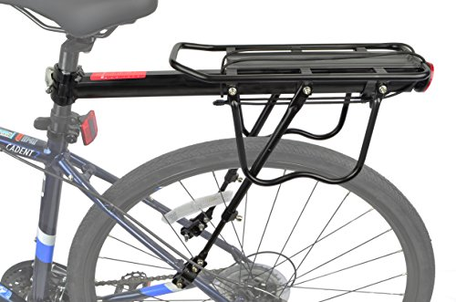 Lumintrail Bicycle Commuter Carrier Rear Seatpost Frame Mounted Bike Cargo Rack for Heavier Top and Side - Bike Seat Rack Post