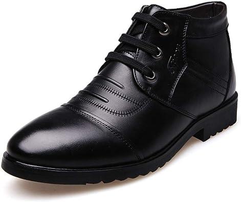 Invierno Botas Hombres Cuero Invierno Zapatos Cuero de Vaca ...