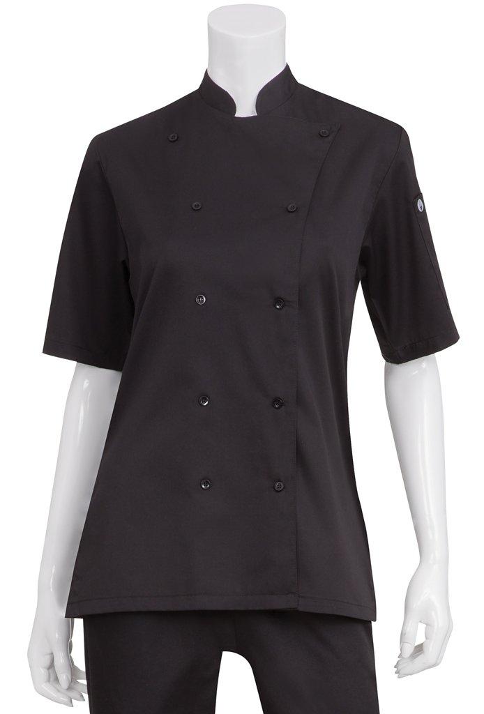 Chef Works Women's Avignon Bistro Coat, Black, X-Large