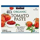 vine tomato - Kirkland Signature Organic Roma Vine Tomato Paste - 12 Pack (6 oz.)