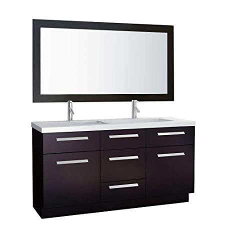 design element j60 ds moscony 60 inch double sink vanity set rh amazon co uk