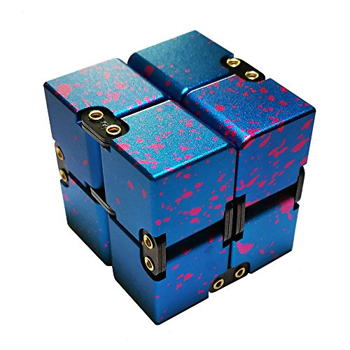 Infinity Cube, ENFICH Aluminum Fidget Toy for Office / Study Relax, Stress Relief or Reducing Anxiety / ADHD / Autism for Adult and Children (Camouflage)