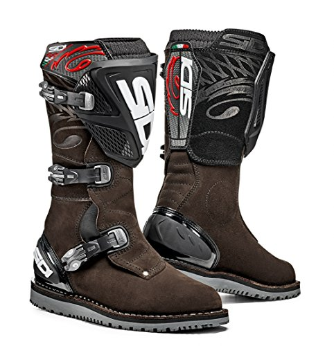 Sidi Trial Zero.1 Off Road Motorcycle Boots Brown Suede US8.5/EU42 (More Size Options) by Sidi (Image #1)