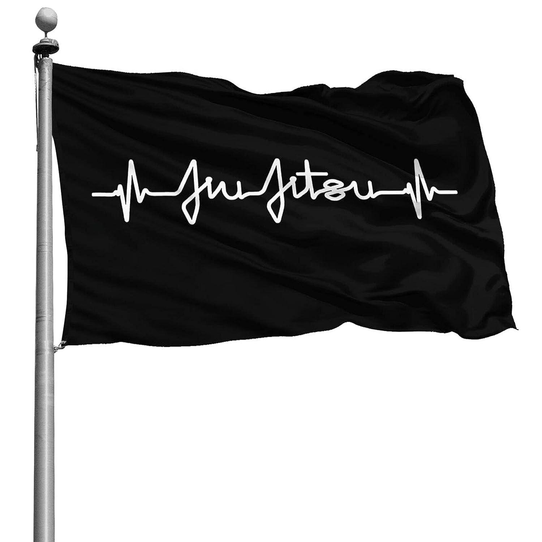 Jiu Jitsu Heartbeat - Bjj Pulse Stylish 4x6 Decorative Flag, Outdoor Garden Terrace Decoration Family Logo