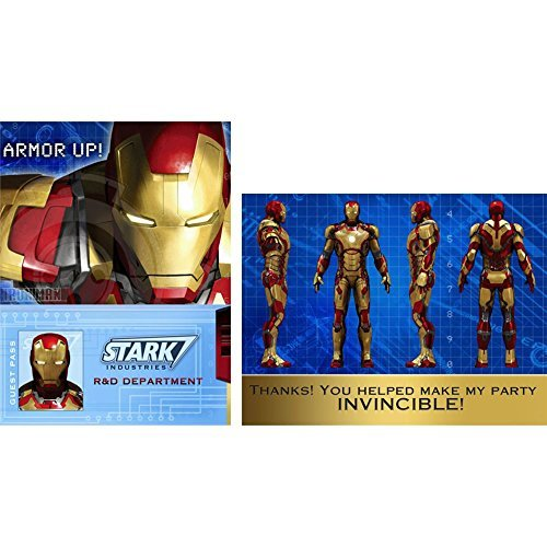 Iron Man 3 Invitations and Thank You Notes w/Envelopes (8ct each)]()